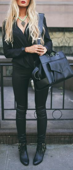 I love a all black look sassy, sexy, and bold. Everyone can rock it