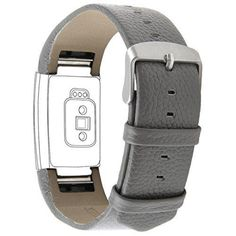 Henoda Genuine Leather Bands for Fitbit Charge 2 Charge 2 Strap Style Gray Fit wrist size 6 85 *** Check out this great product. Things To Buy, Girly Things, Stuff To Buy, Fit Bit Charge 2, Fitbit Bands, Charge 2 Bands, Fitness Tracker, Fitness Gear, Grey Fashion