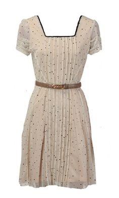 Language Polka Dot Dress