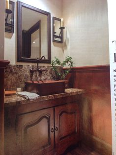 Love the sink and bridge faucet, but not crazy about the color of vanity or walls