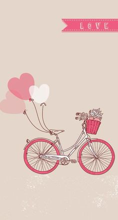 Love Bicycle ★ Find more preppy wallpapers for your #iPhone + #Android @prettywallpaper