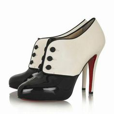 Christian Louboutin Esoteri 120mm Color-block White And Black Booties