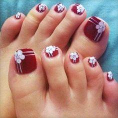 Flower Toe Nail Art Designs - 30+ Toe Nail Designs  <3 <3