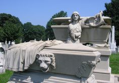 Absolutely amazing! Laurel Hill Cemetery, Philadelphia, PA  William Son of WM & Anna Catharine Warner  Died Jan 20, 1889    This monument was designed by Alexander Milne Calder, whose father was a Scottish tombstone carver, the monument depicts Warner's soul released from the tomb as a wisp of air with his image