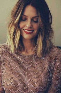 dream hair goals, messy bob, ombre blonde lob