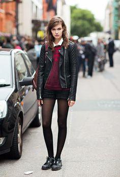sheer black stockings
