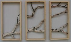 Birch Branch Triptych Wall Hanging by MadeAtTheLake  •Love this• can't wait to hang it in my dining room