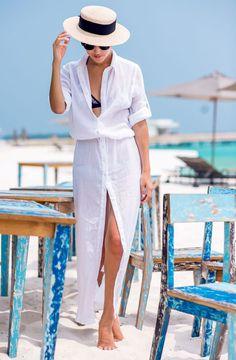look beachwear camisa saia longa