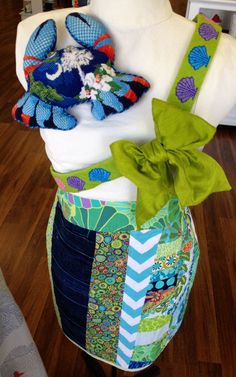 Natasha's Needlepoint and Uncommon Threads(skirts) ~ sash belt is a fun finish!