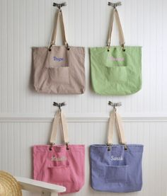 Personalized Favorite Cotton Tote - 4 Colors from Wedding Favors Unlimited