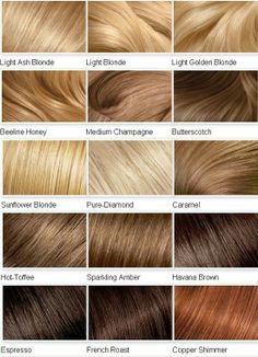 Quick reference Hair Color idea's