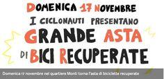 Domenica 17 novembre nel quartiere Monti torna l'asta di biciclette recuperate