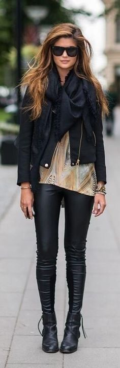 i need to get leather leggings, totally in fashion at the moment