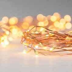 Warm White 50 LED Copper Wire Battery String Light, Set of 3