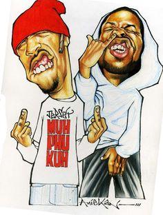 Redman and Method Man art by Aniekan Udofia