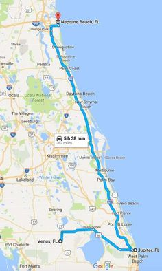 scenic drives in Florida: Venus, Jupiter, and Neptune Beach
