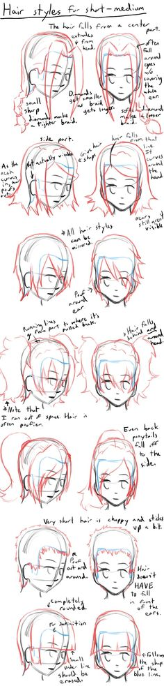How to Draw Anime Hair Styles by LearntoDrawAnime on deviantART