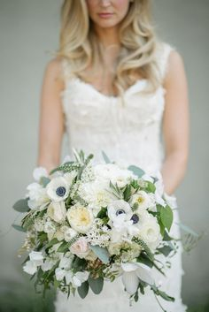 Photography: Sean Money & Elizabeth Fay; A simply stunning wedding bouquet for a simply stunning bride!