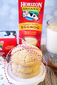 These delicious Eggnog Snickerdoodle Cookies are chewy on the outside, soft and fluffy on the inside, and sure to be a huge hit with everyone! Baked Goods For Christmas Gifts, Neighbor Christmas Gifts, Christmas Treats, Christmas Cookies, Fall Baking, Holiday Baking, Christmas Baking, Homemade Christmas, Cooking Cookies