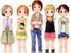 Resultado de imagem para meninas amigas anime fofas escola