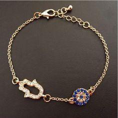 'Hamsa' Crystal CZ Diamond Bracelet