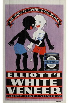 Zwarte piet zwart maken is niet alleen van deze tijd. #weirdadvertising, #discrimination