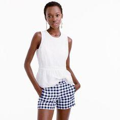 Gingham cotton short
