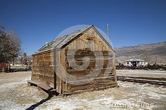 An old wooden shed in California