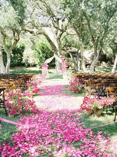 Pink petal aisle. Photography by josevillaphoto.com, Event Design and Planning by bethhelmstetter.com, Floral Design by hollyflora.com