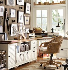 Fill your offices walls with things you love. #potterybarn
