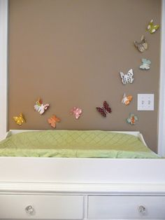 Butterfly Wall Art  modern nursery decor kids by AlmostSundayInc, $22.00