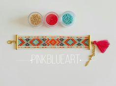 Bead Loom Bracelet Loom beaded Christmas Gifts por PINKBLUEART