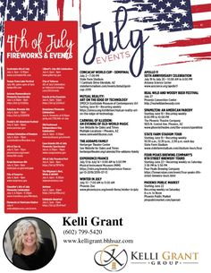 Happy July!!  #4thofJuly #PhoenixFireworks #PhoenixEvents #BeerFests #JulyEvents  KelliGrantGroup.com | 480.779.9656 July Events, Stuff To Do, Things To Do, Phoenix Real Estate, Fire Works, Happy July, State Farm, Keller Williams, Convention Centre