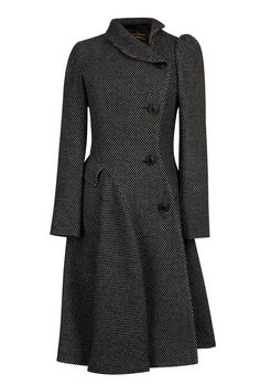 e8f017906085c Women s Blue Navy Noble Double Breasted Wool Coat - Vivienne Westwood  Anglomania Storm Coat in Black Grey