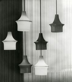 """Pagodi"" (Orno 61-034) light fixtures, designed by Lisa Johansson-Pape for Stockmann Orno."
