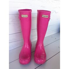 Selling this Lipstick Pink Hunter Boots in my Poshmark closet! My username is: themissnixon. #shopmycloset #poshmark #fashion #shopping #style #forsale #Hunter Boots #Shoes