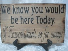 Rustic Wedding Sign Memorial.