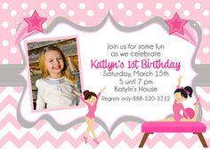 Gymnastics Birthday Printable Invitation by MakinMemoriesOnPaper, $12.00