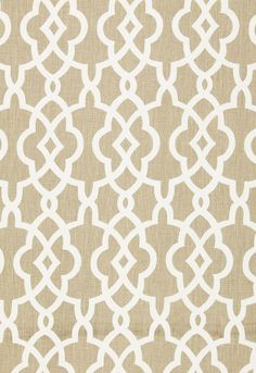 FSchumacher Fabric 174590 Summer Palace Fret Sand