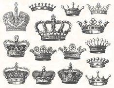 Items similar to Digital Crown Clip Art Digital Heraldic Clip Art Hand Drawn Vintage Crown Clipart Digital Antique Crown and Heraldic Clipart 0126 on Etsy Baby Name Tattoos, Tattoos With Kids Names, Tattoos For Guys, Compass Tattoo, Crown Hand Tattoo, Love Life Tattoo, Crown Clip Art, Zodiac Sign Tattoos, Royal Crowns