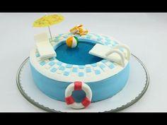 Swimming Pool-Torte. Pool-Torte. Pool Cake. Swimming Pool Cake selber machen, My Crafts and DIY