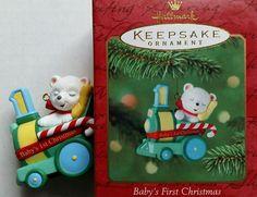 Hallmark 2001 Baby's First Christmas Keepsake Ornament Train Child's Age