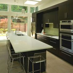 The Latest Modern Kitchen Design Solutions New Kitchen Diy, Modern Kitchen Design, Open Concept, Table, Furniture, Jackson Hole, Home Decor, Kitchens, Create