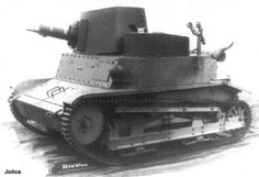 Turreted TKW tankette armed with a water cooled machinegun.