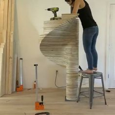 #repost @benjaminuyeda The full video for my spiral staircase is now live on my YouTube channel! Thanks to @inventables for hooking me up with an #xcarve and to @purebond for making low-VOC plywood. I will be sharing the digital files for this project on the #homemademodern website. Also thanks to @seamusriley for helping with this project and teaching me about CNCs. #xcarveproject #cncporn #moderndesign #architecture #digitalfabrication #stairporn #stairs #spiral #spiralstaircase