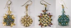 Deborah Roberti's Athena Earring pattern.  I substituted various beads for the 4mm round beads.