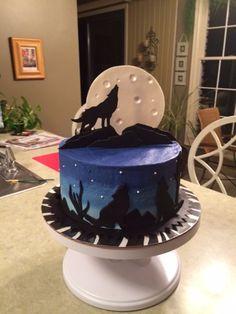 Inspired Photo of Wolf Birthday Cake Wolf Birthday Cake Wolf Cake Cakes Pies Wolf Cake Cake Birthday Cake Art Birthday Cake, Happy Birthday Cake Pictures, Minecraft Birthday Cake, Cake Minecraft, 10th Birthday, Birthday Ideas, Bolo Halloween, Halloween Cakes, Beautiful Cakes