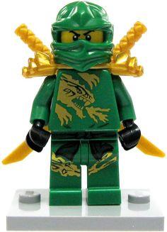 lego ninjago lloyd minifigure green gold ninja loose