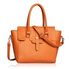 Stylish Women's Leather Handbag With Splicing and Metallic Design
