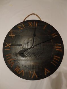 cool large wall clock...I'd probably ditch the rope hanger though.